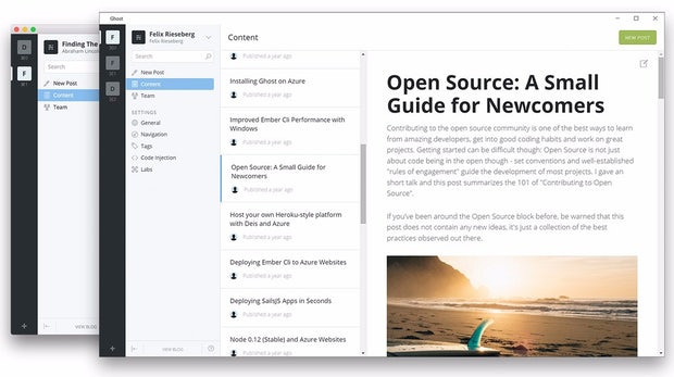 Ghost: Das Node.js-CMS bekommt eigenen Desktop-Client