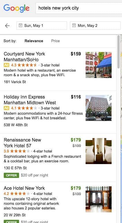 """Neben den Anzeigen gibt es in der lokalen Suche in den USA zusätzlich bezahlte """"Offers"""". (Bild: Mike Blumenthal)"""