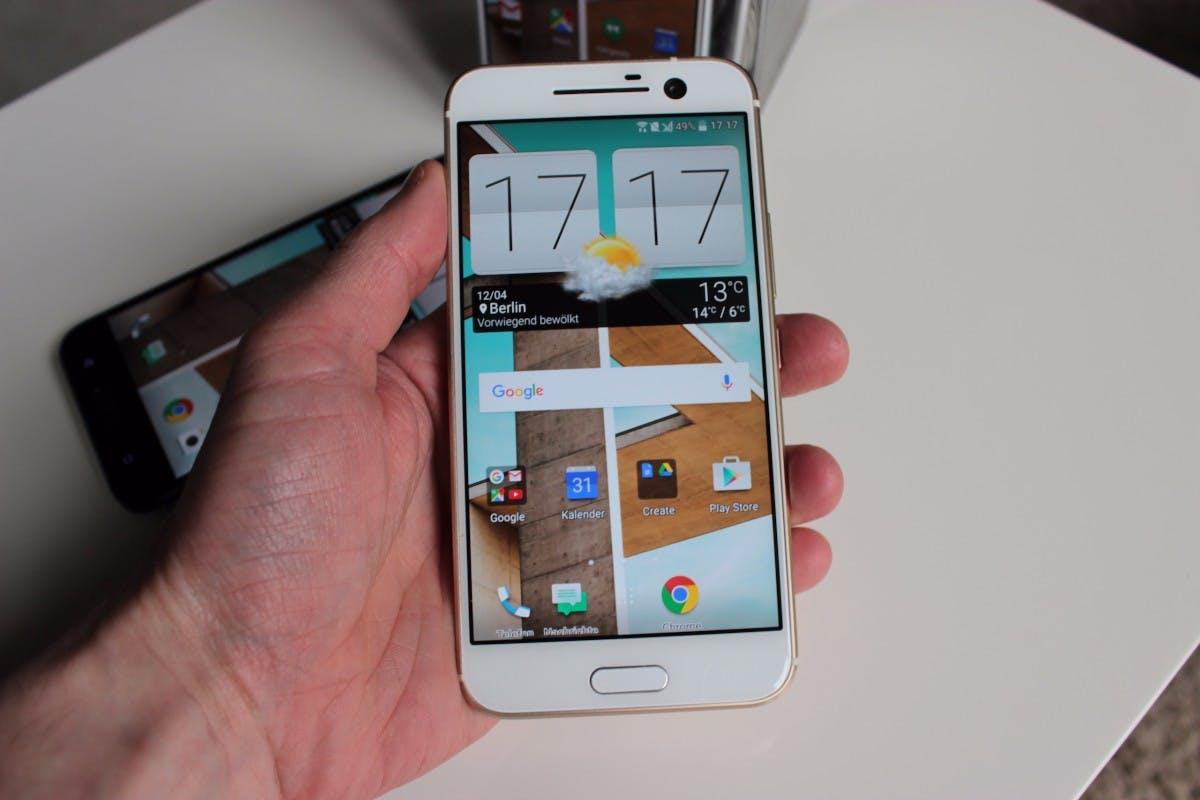 Das HTC 10 in Gold (Foto. t3n)