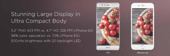 Das Huawei P9 ist äußerst kompakt gebaut. (Bild: Huawei)