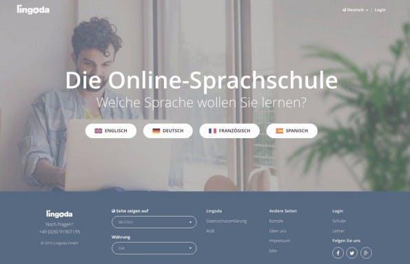 Lingoda aus Berlin sichert sich 3,7 Millionen Euro. (Screenshot: Lingoda)