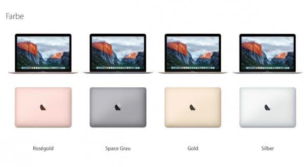 Das neue MacBook 2016 ist erstmals auch in der Farbe Roségold erhältlich. (Bild: Apple)
