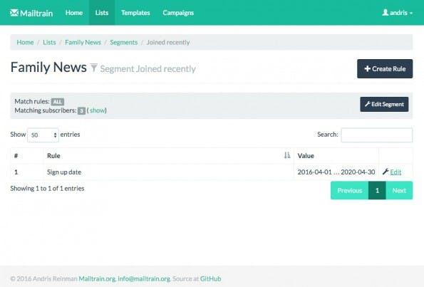 Mailtrain ist ein quelloffenes Tool zur Erstellung und Verwaltung von Newsletter-Kampagnen (Screenshot: Mailtrain)