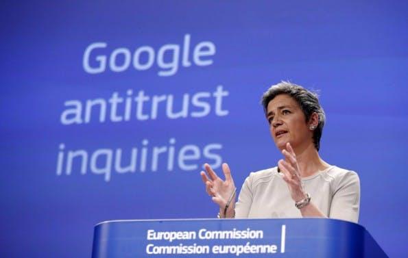 Die für Wettbewerbspolitik zuständige EU-Kommissarin Margrethe Vestager. (Foto: Reuters / Francois Lenoir)