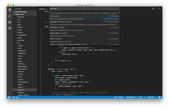 Quelloffener Code-Editor von Microsoft: Visual Studio Code ist in Version 1.0 erschienen. (Screenshot: Visual Studio Code)
