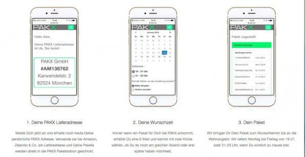 Pakx liefert eure Pakete zum Wunschtermin. (Screenshot: pakx.de)