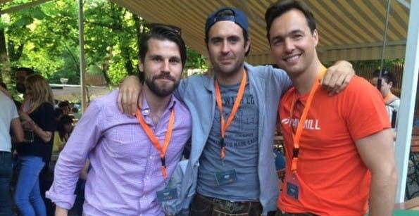Bilder aus besseren Zeiten: die Paymill-Führung mit den Gründern Mark Henkel, Jörg Sutara und Stefan Sambol (von links nach rechts). (Foto: Munich Startups)