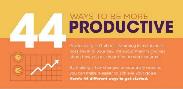 44 Methoden, die dabei helfen produktiver zu arbeiten. (Infografik: Microsoft Training)