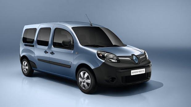 Der City-Transporter Kangoo Z.E. (Zero Emission) wird auch in einer Langversion als Kangoo Maxi Z.E. angeboten. Beide Modelle sollensich in erster Linie angewerbliche Nutzer richten. Aufgrund ihrerbegrenzten Reichweite von etwa 170 Kilometernsinddie Fahrzeuge ebenfalls auf den Stadtverkehr ausgelegt. (Bild: Renault)