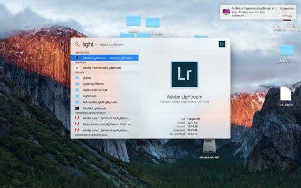 Apps via Spotlight starten zu können ist der wohl einsteigerfreundlichste Rat, den wir im Rahmen unserer Tipps und Tricks für OS X geben. (Screenshot: t3n)