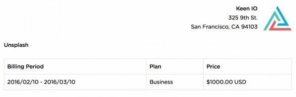 Für Keen bezahlt Unsplash 1.000 US-Dollar im Monat. (Screenshot: Unsplash)