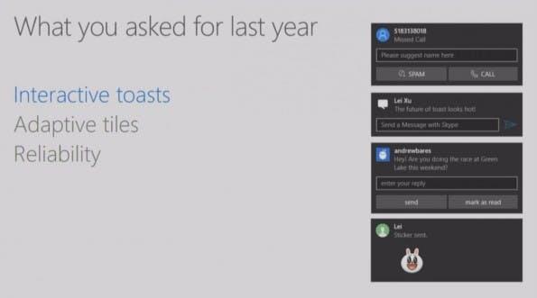 Per Windows 10 könnt ihr bald Benachrichtigungen von Android-Apps lesen – und beantworten. (Screenshot: Microsoft)