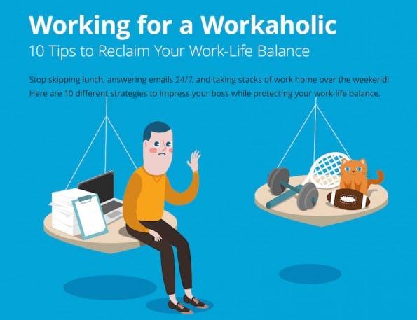 Infografik: Zehn Tipps zum Thema Work-Life-Balance. (Grafik: Wrike)