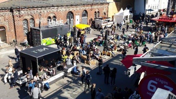 Auf der re:publica in Berlin wird auch die Zukunft der Arbeit diskutiert. Ein Thema: Recruitainment. (Foto: t3n.de)