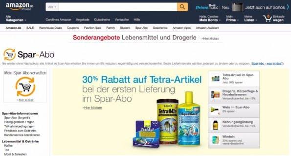 Amazon nutzt eine intelligente Verkaufsmechanik für seine Spar-Abos. (Screenshot: Amazon)