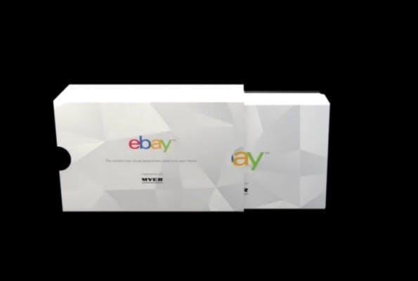 Die gebrandete eBay-Cardboard. (Screenshot: t3n.de)