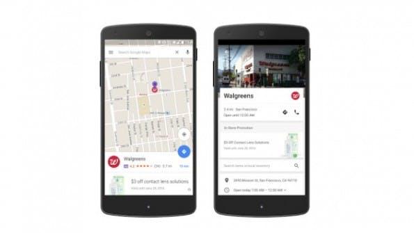 Anzeigen in Google Maps und Promoted Pins. (Bild: Google)