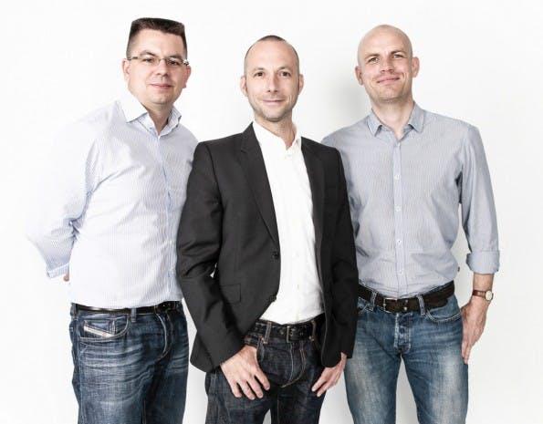 Die Geschäftsführer von Mister Spex (von links nach rechts): Dirk Graber, Mirko Caspar und Robert Motzek. (Foto: Mister Spex)