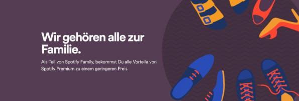 Bei Spotify gibt es neuerdings sechs Accounts für 15 Euro pro Monat. (Screenshot: spotify.com)