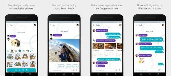 Allo: Der neue Messenger von Google soll sich unter anderem durch KI, Smart- Reply-Funktion und bunte Emoji auszeichnen. (Bild. Google)