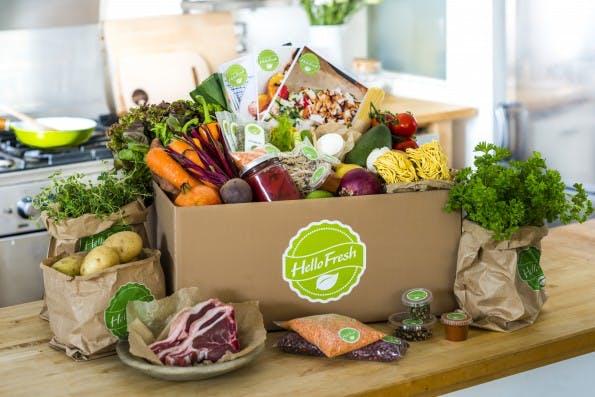 Kochboxen wie die von HelloFresh erfreuen sich großer Beliebtheit. Das weckt auch bei Amazon Begehrlichkeit. (Foto: HelloFresh)