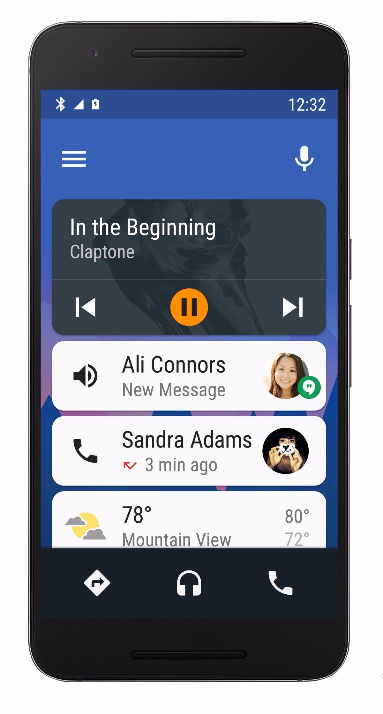 So sieht die Stand-alone-App von Android Auto aus. (Bild: Google)