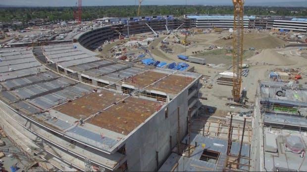 Apple Campus 2: Neues Drohnenvideo zeigt den Fortschritt der 5-Milliarden-Dollar-Baustelle