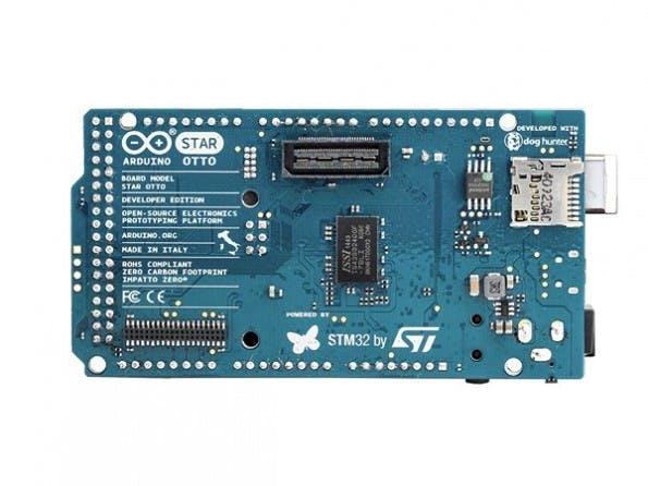 Die Rückseite des Arduino Star Otto. (Bild: Arduino.org)(Bild: Arduino.org)