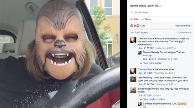"""Der virale Weltrekord: """"Chewbacca Mask Lady"""" knackt die 100 Millionen Views"""