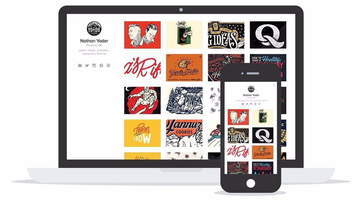 Mit einem Klick zum Design-Portfolio: Neues Dribbble-Feature macht's möglich