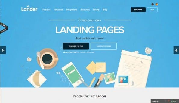 (Screenshot: landerapp.com)