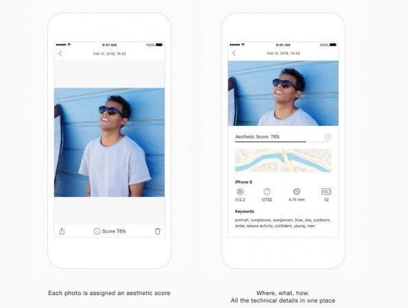 Die neue Foto-App von eyeEm vergibt für jedes Bild einen Quality-Score. (Screenshot: eyeEm)
