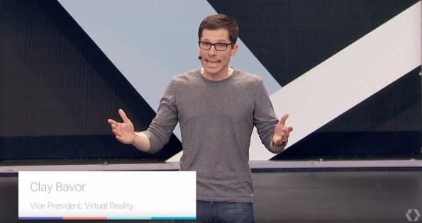 Google-Daydream-Vordenker: Clay Bavor ist der Leiter von Googles VR-Abteilung. (Screenshot: Google)