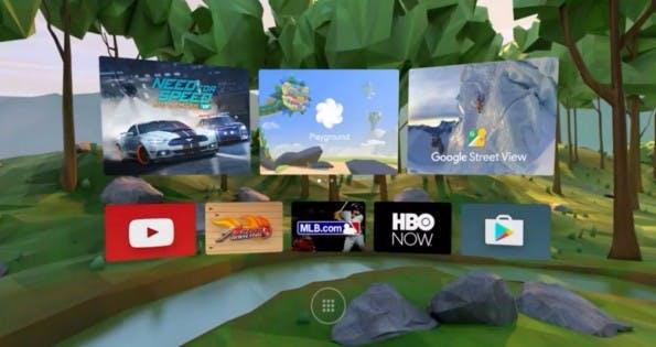 So sieht das User-Interface von Google Daydream aus. (Screenshot: Google)