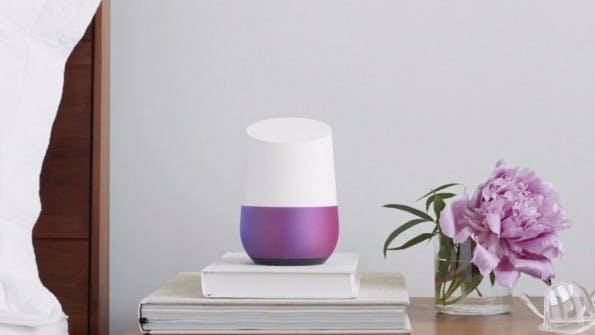 Google Home kommt in verschiedenen Farben. (Bild: Google)