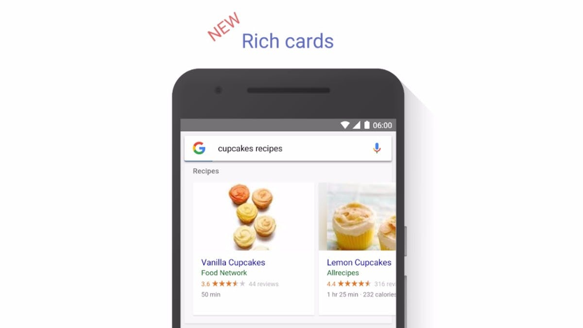 Rich Cards: Googles mobile Suche wird bildgewaltiger
