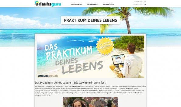"""Eine """"Weltreise auf Firmenkosten"""": Die Guerilla-Marketing-Kampagne von Urlaubsguru.de war ein Volltreffer. Sogar RTL berichtete. (Bild: urlaubsguru.de)"""