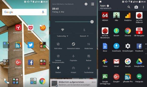 So sieht das Sense-8-UI auf dem HTC 10 aus. (Screenshot: t3n)