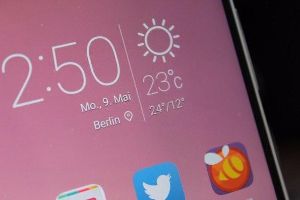 """Das Display des Huawei P9 löst """"nur"""" mit Full HD auf. (Foto: t3n)"""
