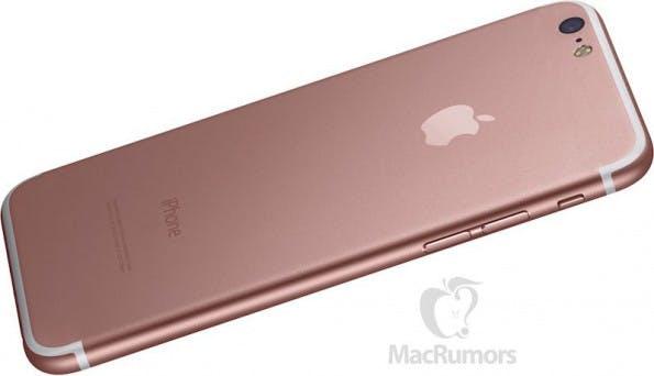 So könnte das iPhone 7 in Roségold aussehen – angeblich soll es Stereolautsprecher an Bord haben, was wir noch bezweifeln. (Bild: Macrumors)