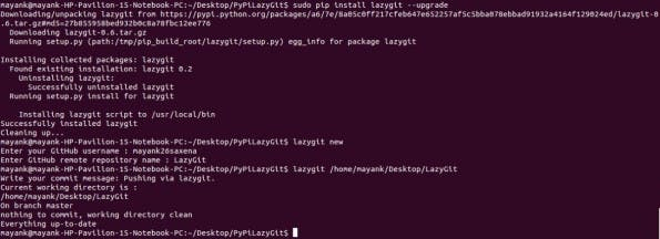 LazyGit pusht euren Code automatisch auf GitHub. (Screenshot: Mayank Saxena)