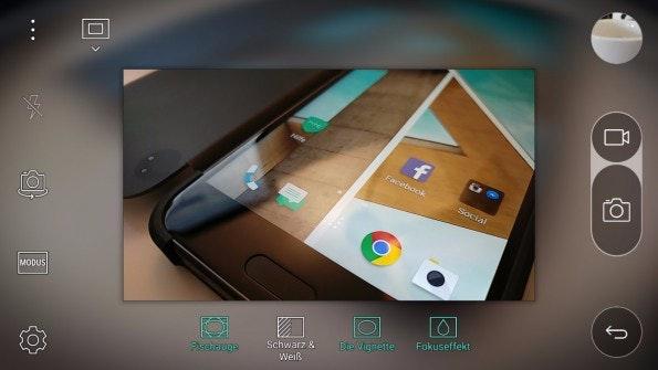 Die Kamera-App des LG G5 hat viel zu bieten. (Screenshot: t3n)