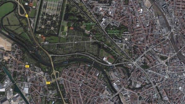 Die Stadtteile Linden und Nordstadt stehen bei Studierenden hoch im Kurs. (Screenshot: Google)