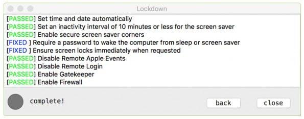 LockDown versieht osxlockdown mit einem grafischen Nutzerinterface. (Screenshot: Objective-See)