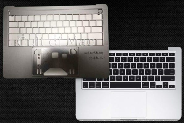 Links das neue MacBook-Pro, rechts das alte Design. (Foto: Cult of Mac)