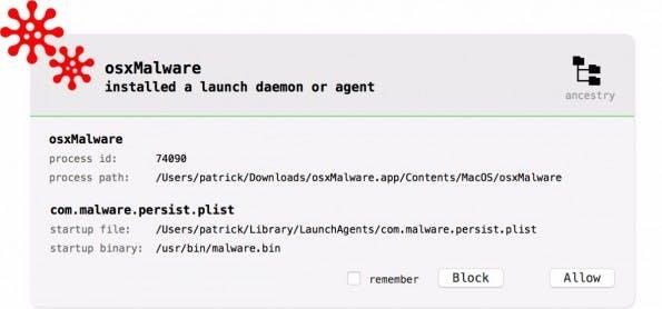 OS-X-Sicherheit: BlockBlock eignet sich eher für versierte Nutzer. (Screenshot: Objective-See)