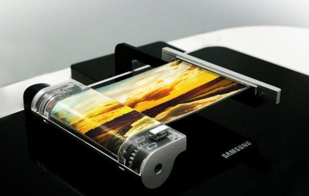 Das aufrollbare Display von Samsung ermöglicht neue Formfaktoren für Smartphones und andere Geräte. (Foto: Samsung)