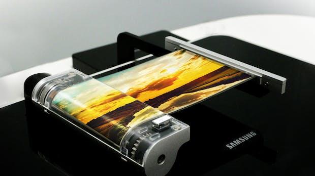 Samsung zeigt ultradünnes, faltbares OLED-Display für Smartphones & Tablets