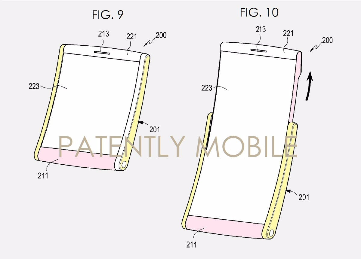 "(Bild: <a href=""http://www.patentlyapple.com/patently-apple/2016/04/rumor-claims-that-samsung-will-introduce-a-foldable-smartphone-in-late-2017.html""> Patently Mobile</a>)"