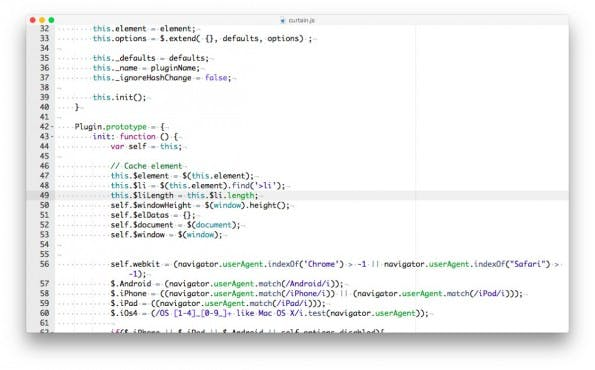 Der Code-Editor Small: Einfachheit statt Feature-Feuerwerk. (Screenshot: Small)